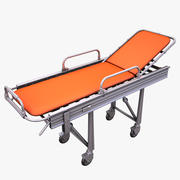 Steel Framed Hospital Bed 3d model