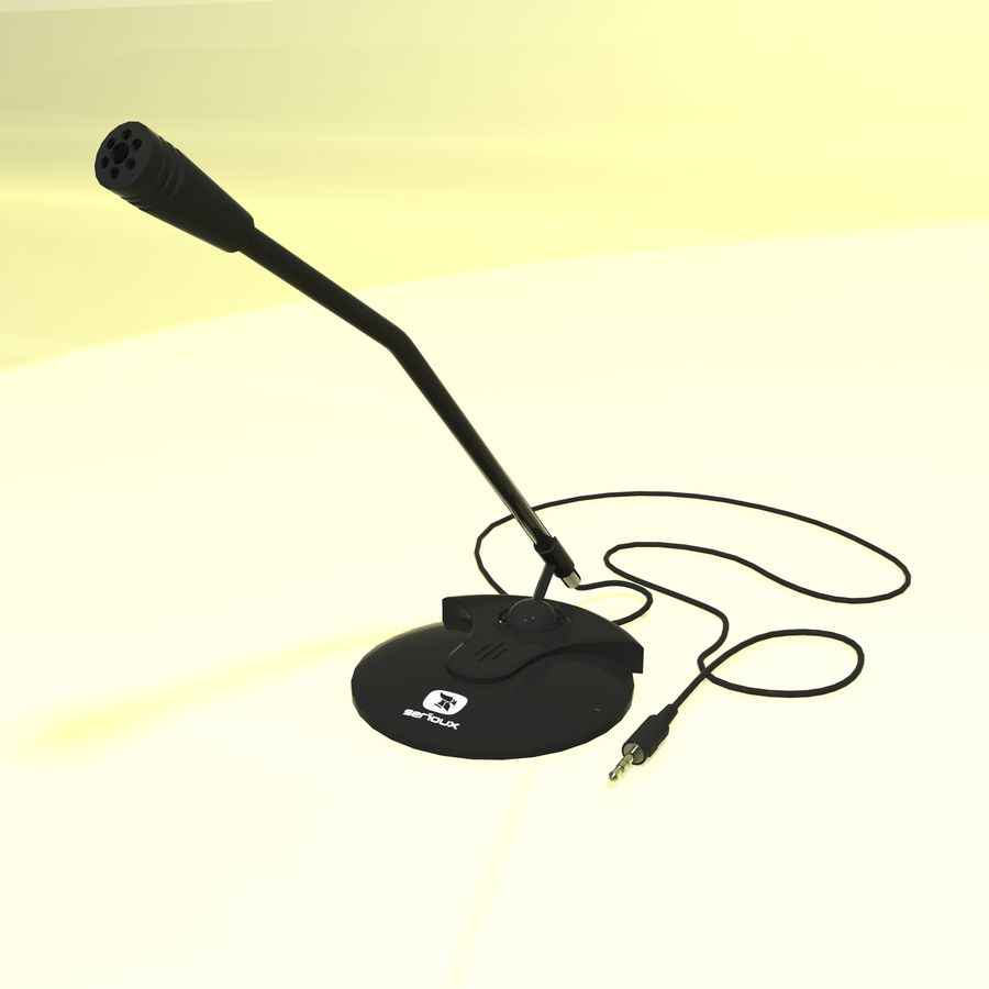 Serioux Microphone royalty-free 3d model - Preview no. 2
