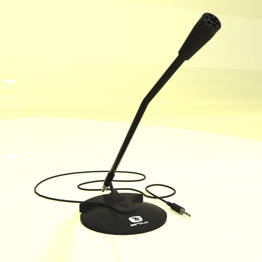 Serioux Microphone royalty-free 3d model - Preview no. 3