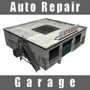 Garaje de reparación de automóviles modelo 3d