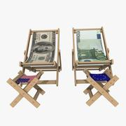 Money Chairs 3d model