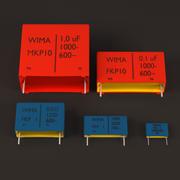 Wima Box Capacitors 3d model