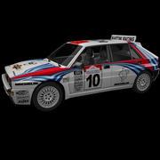 Lancia Delta Rally Car 3d model