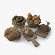 Bread Assets 3d model