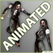 Zombie femelle 3d model
