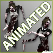 Zombie Maid 3d model