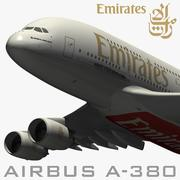 Airbus A380 Emirates Airways 3d model