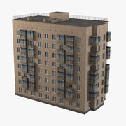 Brick Old Civil Building 3d model