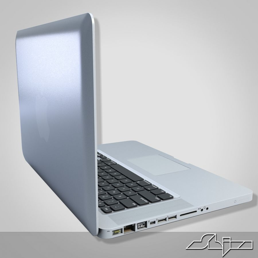 Laptop Apple MacBook Pro 15 royalty-free 3d model - Preview no. 4