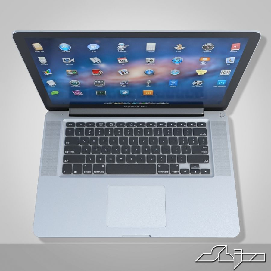Laptop Apple MacBook Pro 15 royalty-free 3d model - Preview no. 7