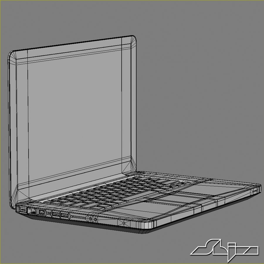 Laptop Apple MacBook Pro 15 royalty-free 3d model - Preview no. 11