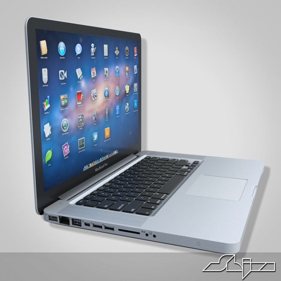 Laptop Apple MacBook Pro 15 royalty-free 3d model - Preview no. 3