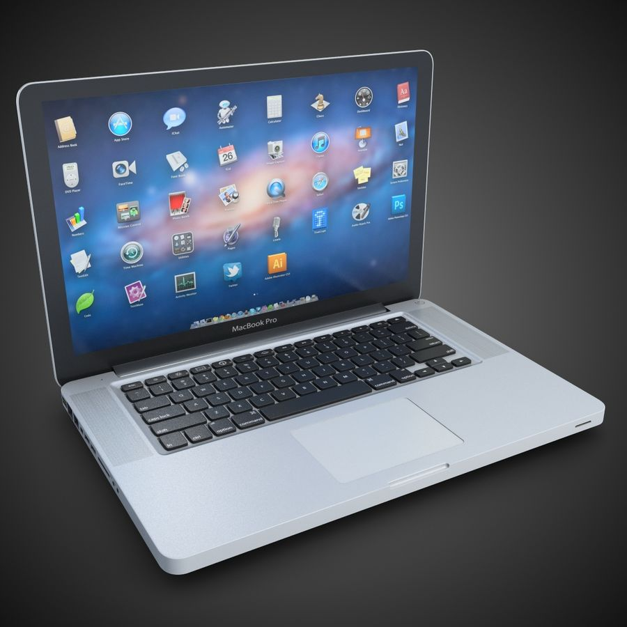 Laptop Apple MacBook Pro 15 royalty-free 3d model - Preview no. 2