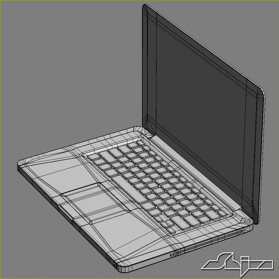 Laptop Apple MacBook Pro 15 royalty-free 3d model - Preview no. 13