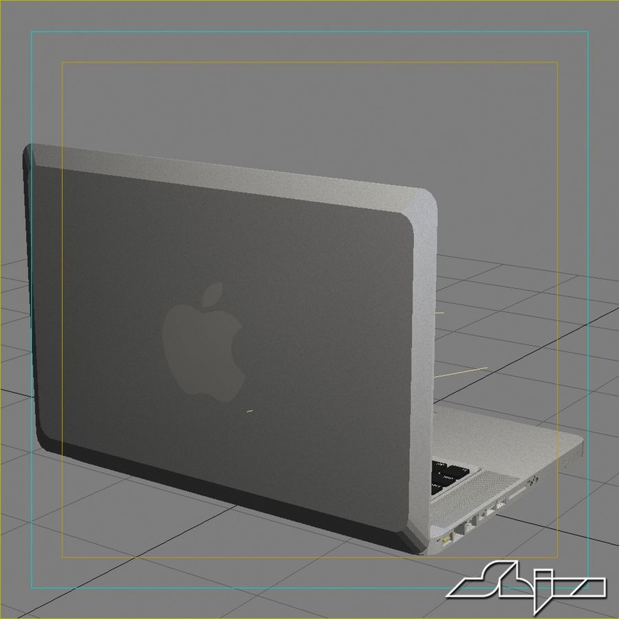 Laptop Apple MacBook Pro 15 royalty-free 3d model - Preview no. 10