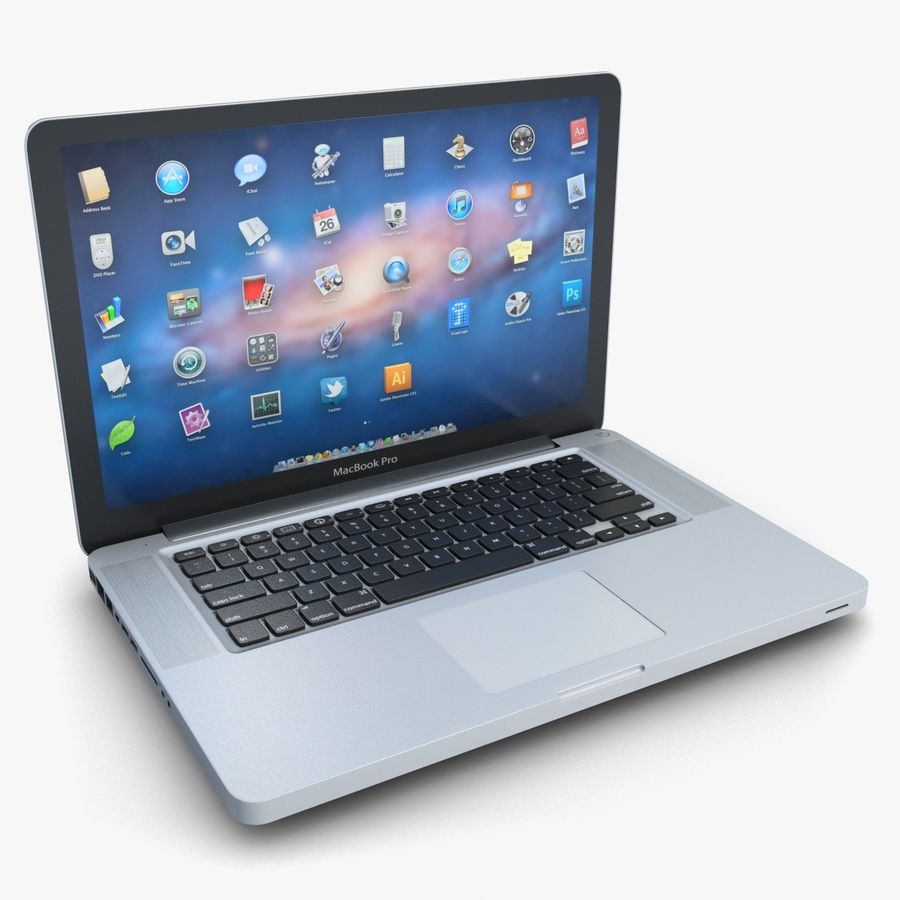Laptop Apple MacBook Pro 15 royalty-free 3d model - Preview no. 1