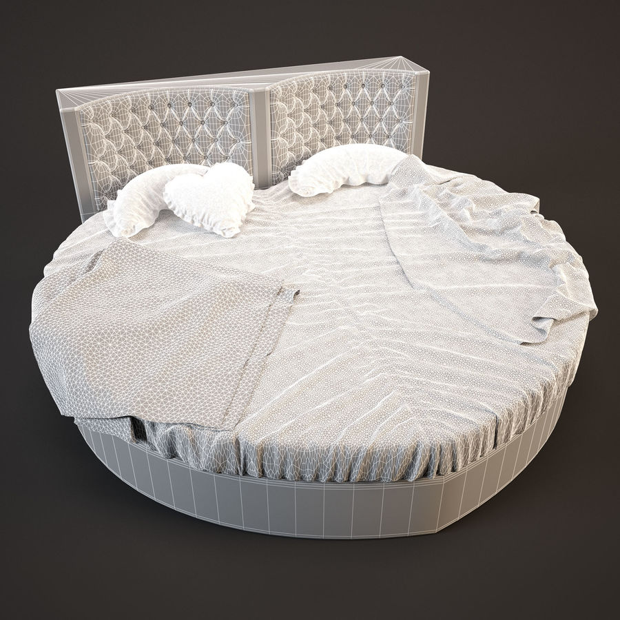 Bed-Heart royalty-free 3d model - Preview no. 4