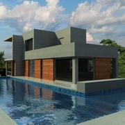 Çağdaş ev 3d model