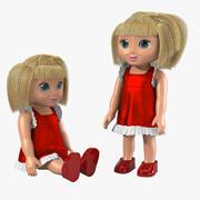 Toy Doll Set 3d model