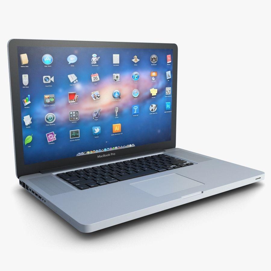 Laptop Apple MacBook Pro 17 3D Model $59 - .max .obj .ma .fbx .3ds - Free3D