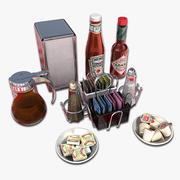 Condiments pour petit déjeuner 3d model