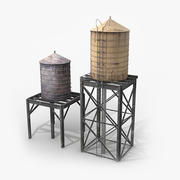 Roof-Top Water Tanks 3d model