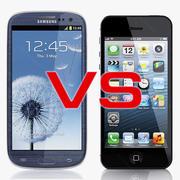 iPhone 5 VS Samsung Galaxy SIII 3d model