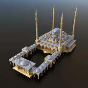 Mezquita árabe modelo 3d