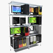 Personal Computer Shelf 3d model