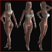 Fitness Girl (manipuliert) 3d model