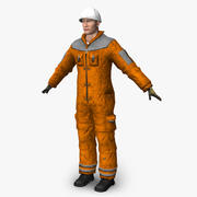 Trabalhador da construção 3d model