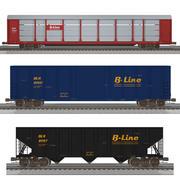Mega goederentreinpakket! C4D-formaat 3d model