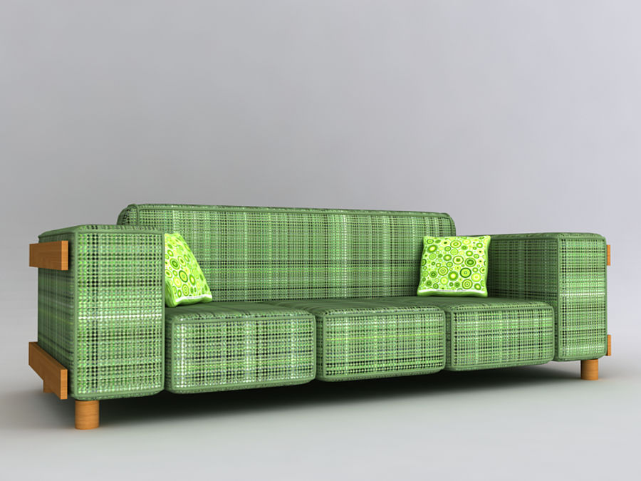 Sofas collection royalty-free 3d model - Preview no. 8