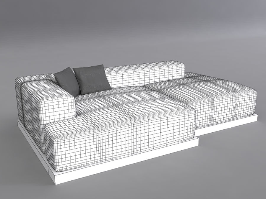 Sofas collection royalty-free 3d model - Preview no. 43