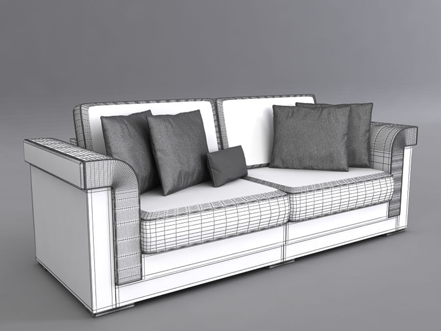 Sofas collection royalty-free 3d model - Preview no. 40