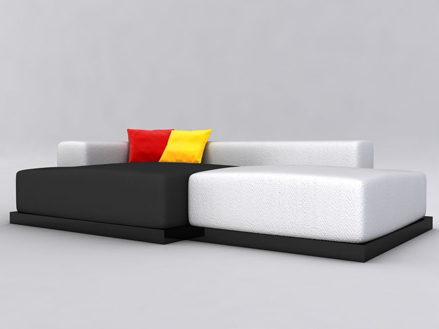 Sofas collection royalty-free 3d model - Preview no. 41