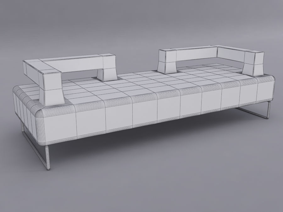 Sofas collection royalty-free 3d model - Preview no. 16