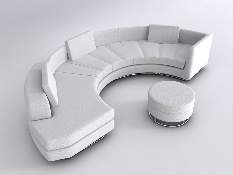 Sofas collection royalty-free 3d model - Preview no. 17