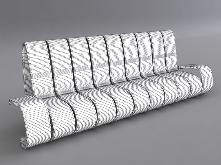 Sofas collection royalty-free 3d model - Preview no. 37
