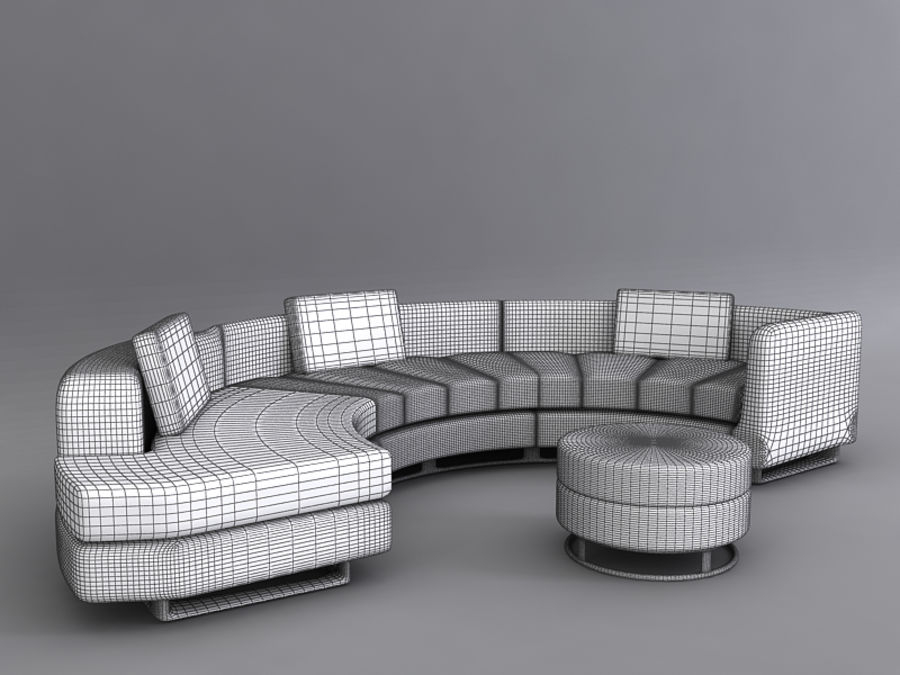 Sofas collection royalty-free 3d model - Preview no. 19