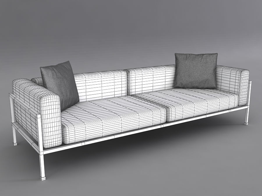 Sofas collection royalty-free 3d model - Preview no. 31