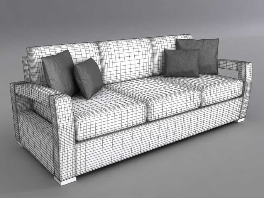 Sofas collection royalty-free 3d model - Preview no. 25