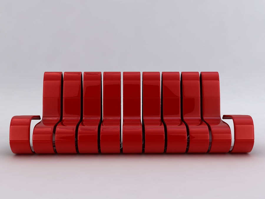 Sofas collection royalty-free 3d model - Preview no. 35