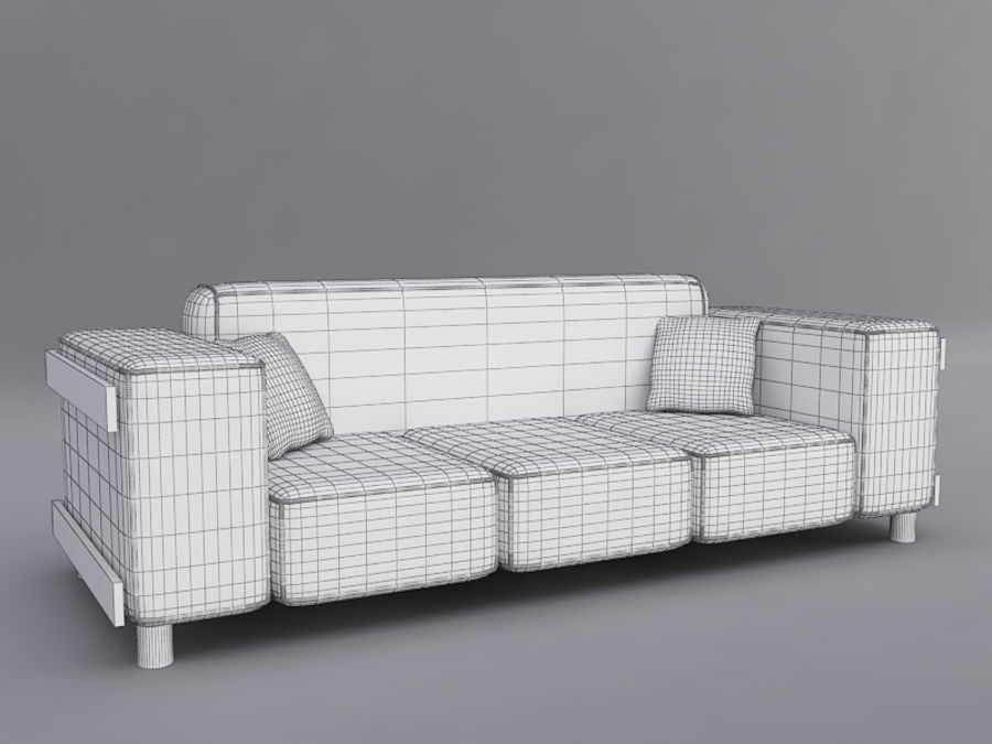 Sofas collection royalty-free 3d model - Preview no. 10