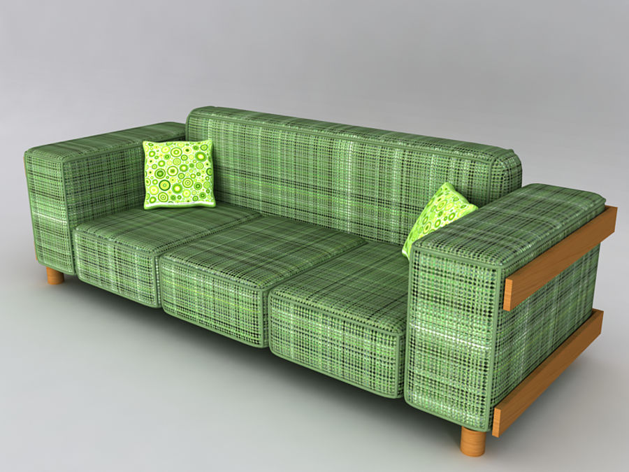Sofas collection royalty-free 3d model - Preview no. 9