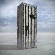 Zniszczony budynek zniszczony 3d model