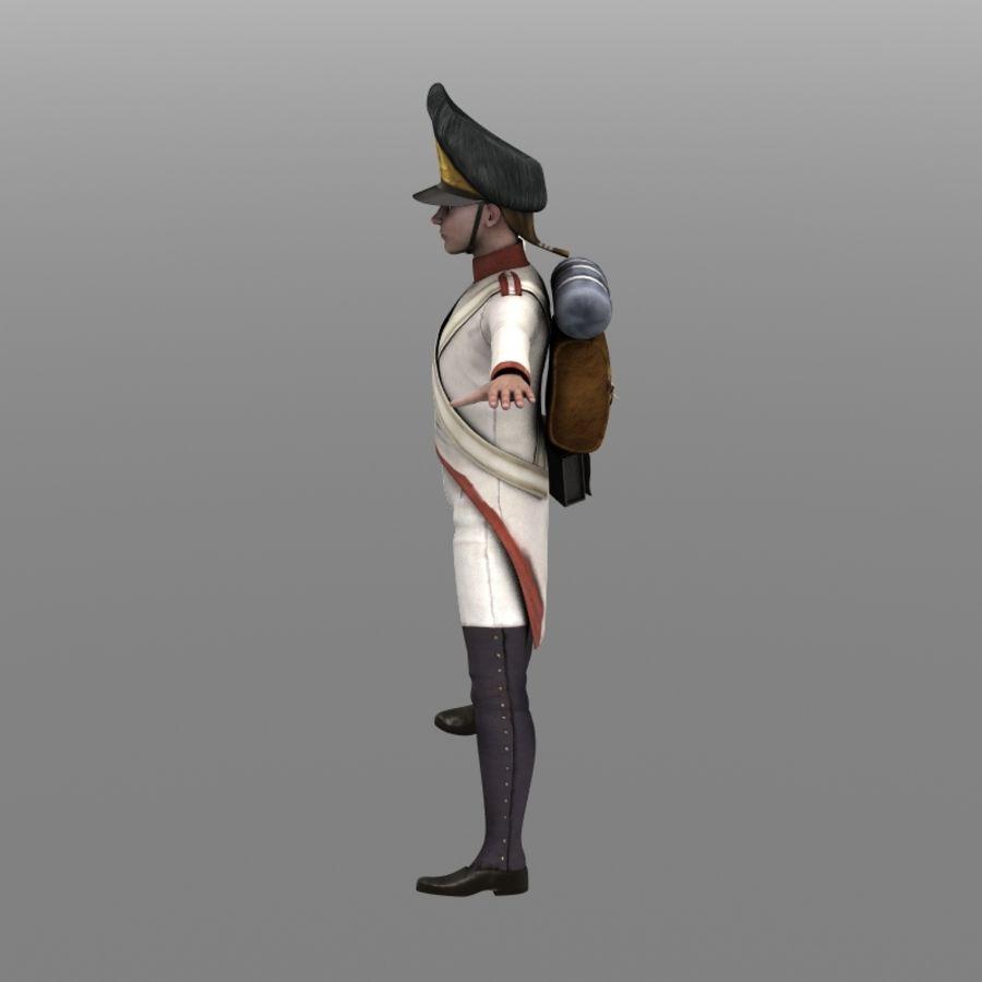 Austrian Grenadier royalty-free 3d model - Preview no. 6