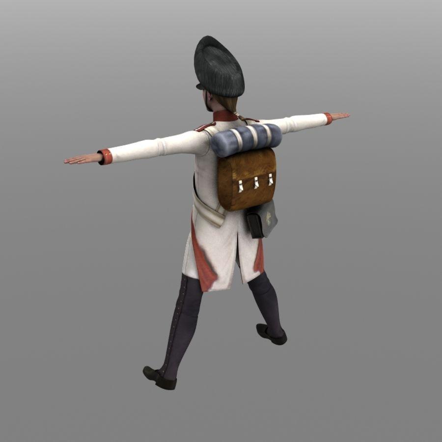Austrian Grenadier royalty-free 3d model - Preview no. 2