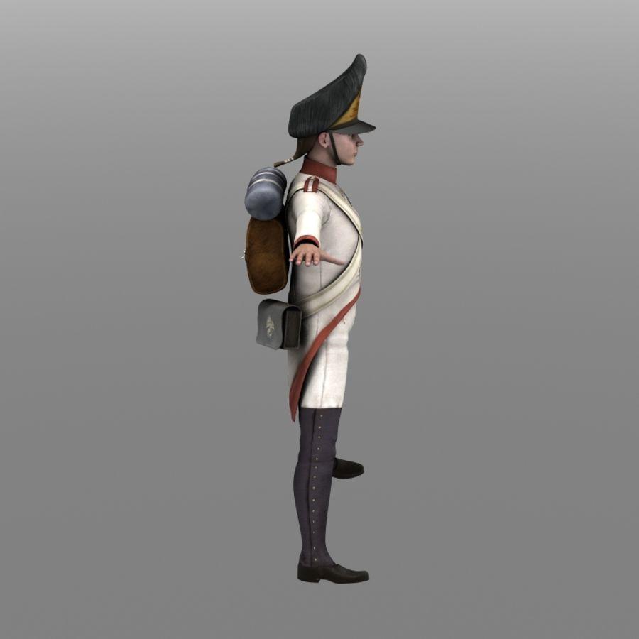 Austrian Grenadier royalty-free 3d model - Preview no. 5
