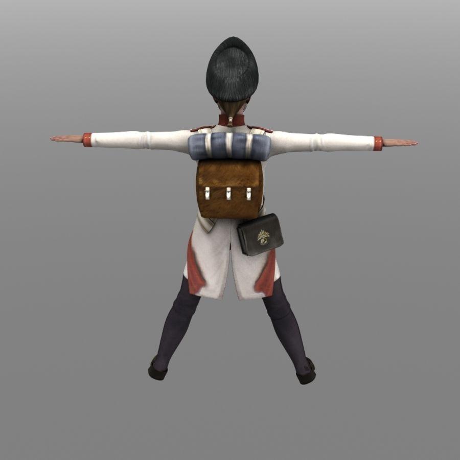 Austrian Grenadier royalty-free 3d model - Preview no. 4